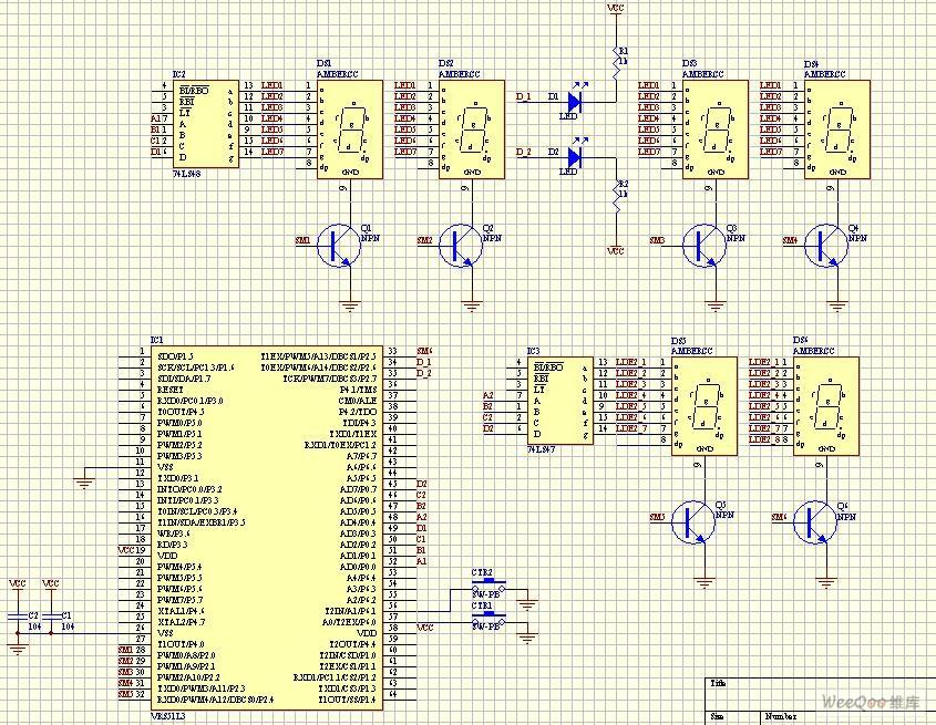 【图】vrs51l3074电子时钟设计之一电路图仪器仪表