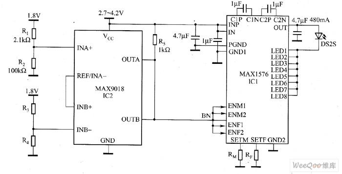 AX1576驱动大功率白光LED电路图