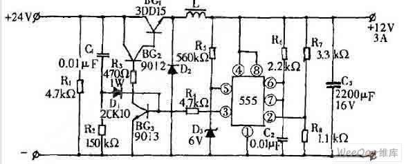【图】24v转12v开关电源电路图开关稳压电源
