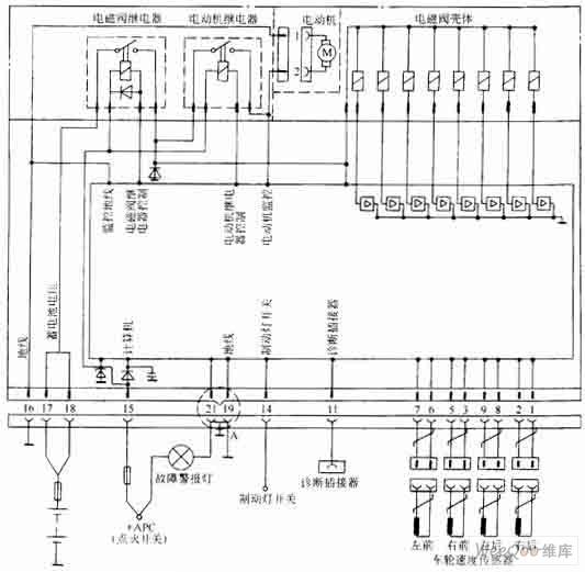 【图】富康轿车ABS计算机盖章电路图东风雪应图纸控制怎样图片