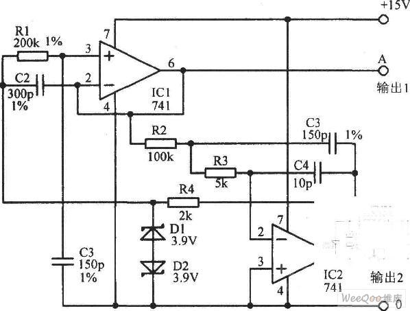 基于稳定的正弦波振荡器电路图