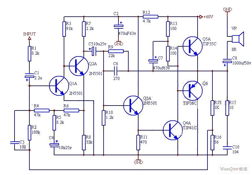 高输入阻抗仪表放大器电路图图片