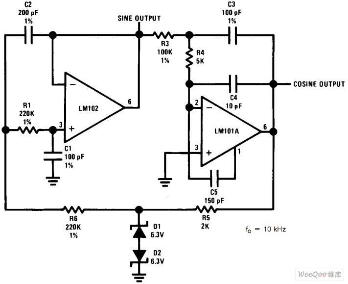 【图】高频正弦波发生器与正交输出电路图正弦信号