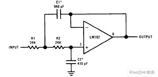 低通有源滤波器电路图