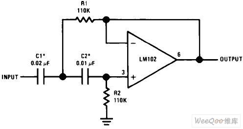 高通有源滤波器电路图