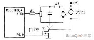 直流测速发电机与单片机的接口电路图