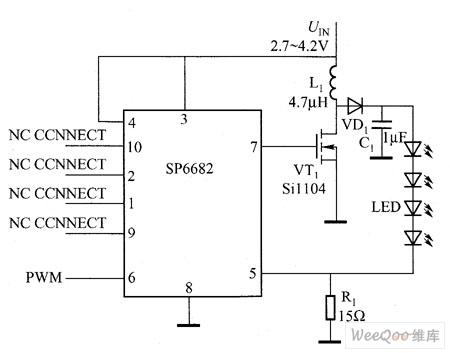 【图】稳压电荷泵驱动的led电路图led电路
