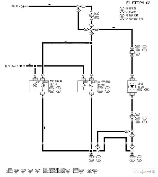 尼桑A32 EL供电电路图一