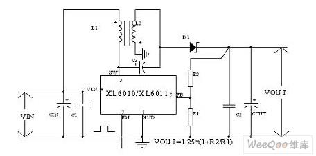 XL6010/XL6011实现升降压拓扑结构电路图