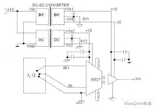 普通型的心电检测电路图