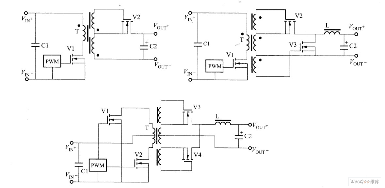 辅助绕组驱动的同步整流电路图