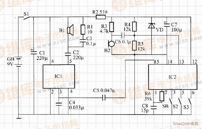 利用RTS0071构成的变音玩具盒控制器