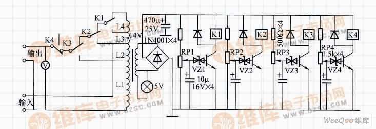 简单实用的交流稳压器电路
