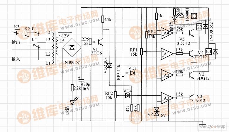全自动交流稳压器电路(一)