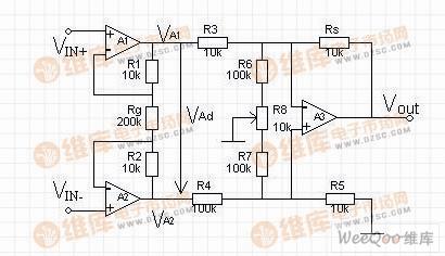 传感器转换放大测试电路