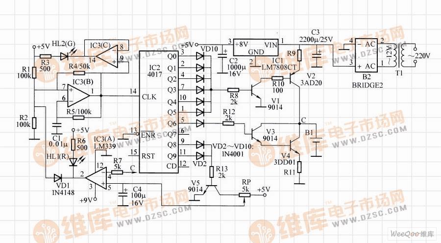 镍镉电池快速充电电路图(二)