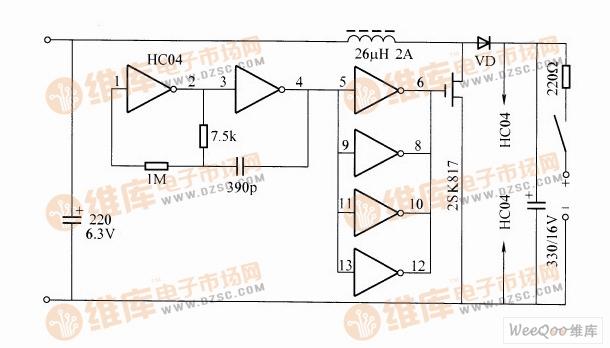 太阳能充电器电路图(二)