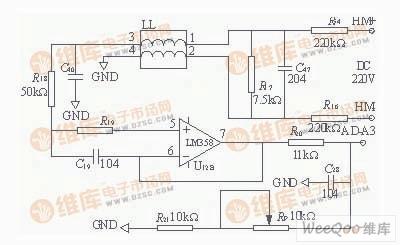 合母电压的监测电路图