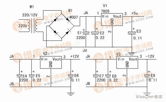 【图】电源电路原理图电源电路