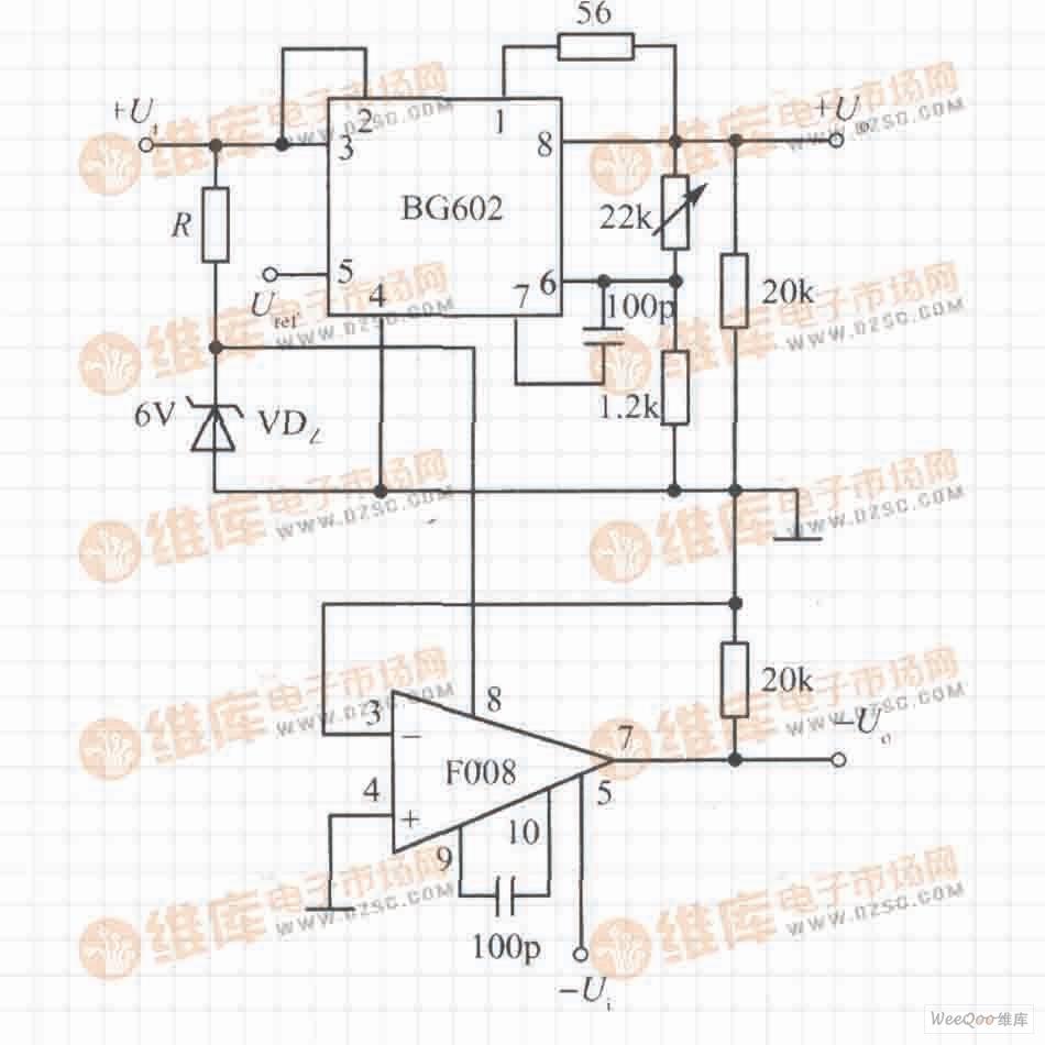 由BG602构成的跟踪式集成稳压电源电路