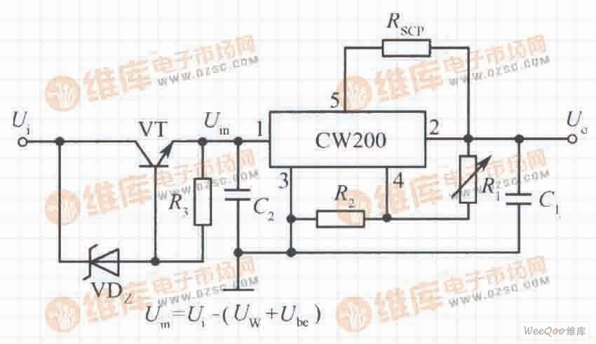 高输入电压集成稳压电源电路之三