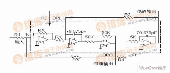 MAX275滤波器结构图