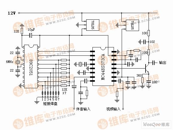 电视信号射频调制器电路图(含预防)