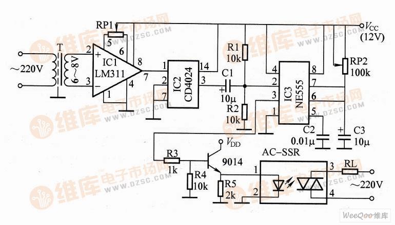 过零触发交流调压器电路图图片