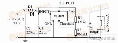 由VB409组成的电源电路图