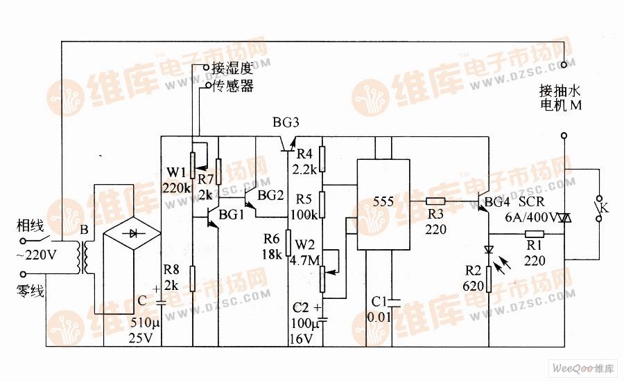 自动抽水控制器电路图