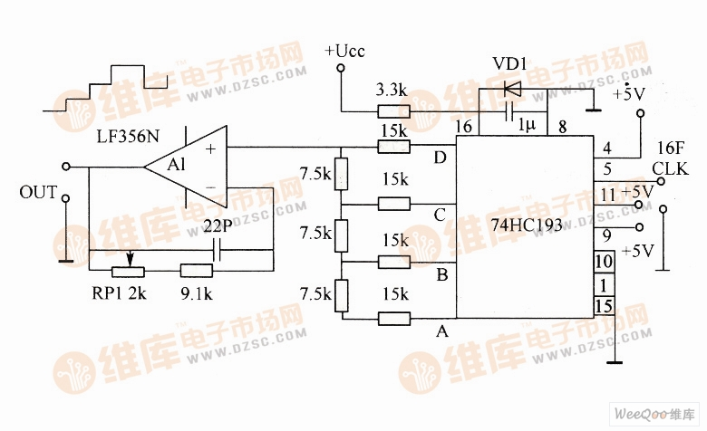 阶梯波信号发生器电路图