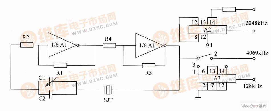 简单的晶体振荡器电路图