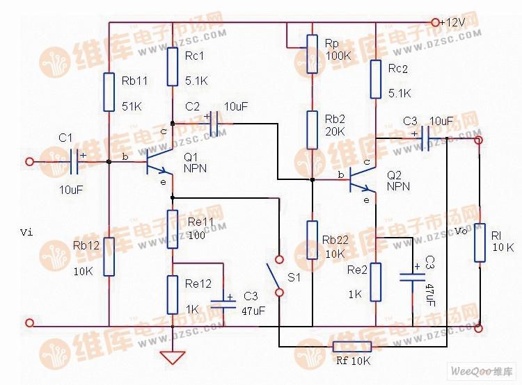【图】负反馈放大器电路图基础电路