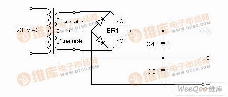 Hi Fi 功率放大器的电源电路图图片