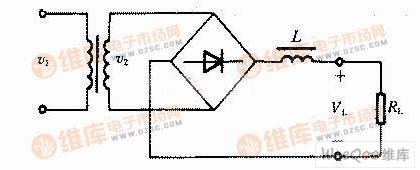 桥式整流电路电感滤波原理图