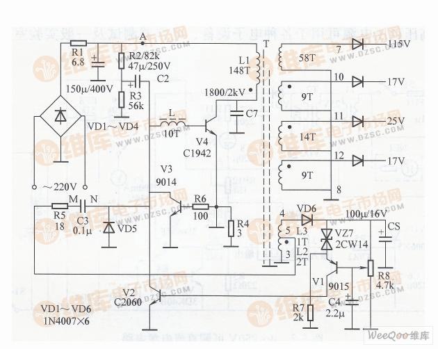彩电泵电源电路图