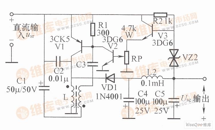 倒向直流开关稳压电源电路图-升压式开关电源电路图图片