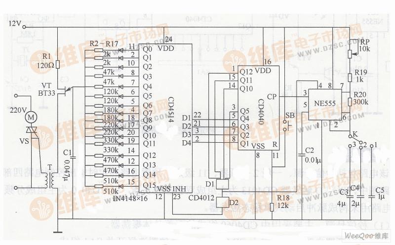空调扇电机开关接线图解