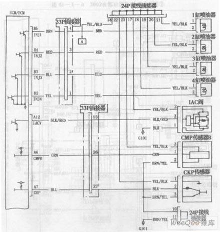 003年款车型发动机电路图一图片