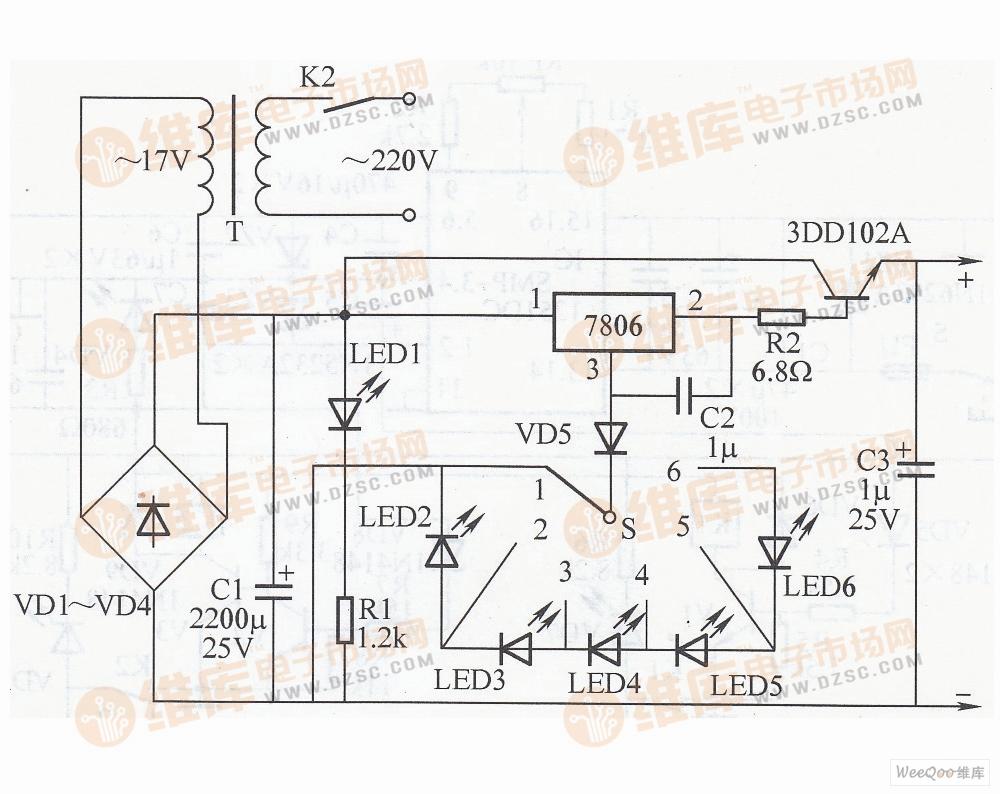 调大电流的直流稳压电源电路图-交流稳压器 九图片