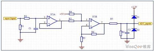 数据采集电路,主要负责电压、电流等模拟信号的转换等处理。由于被检测的电压电流量数值比较大,数值远超过DSP允许的输入信号范围,因此,需要把这些模拟电信号降低,并将电流量变换为电压量,双极性信号变成单极性信号,并进行电平匹配,A/D 转换后送入DSP进行运算。实现方法简述如下:电压、电流信号(包括2个直流母线电压、3个负载电流以及3个补偿器输出电流)经电流型霍尔传感器变换后,在高精度采样电阻上形成与原信号成比例的电压信号,再经滤波、隔离、电平变换后,得到0~3V模拟量输入电压,最后经12位A/D变换后进