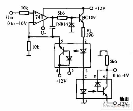 直流-直流光电隔离器电路图