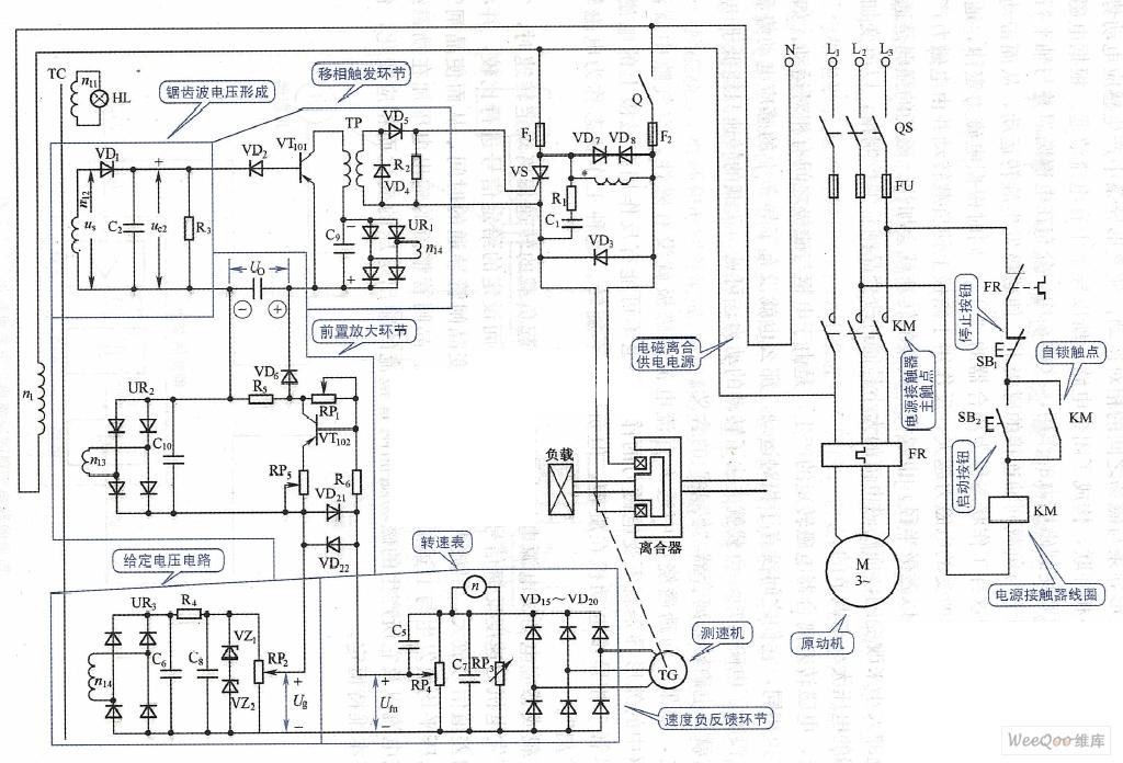 电磁调速控制电路图