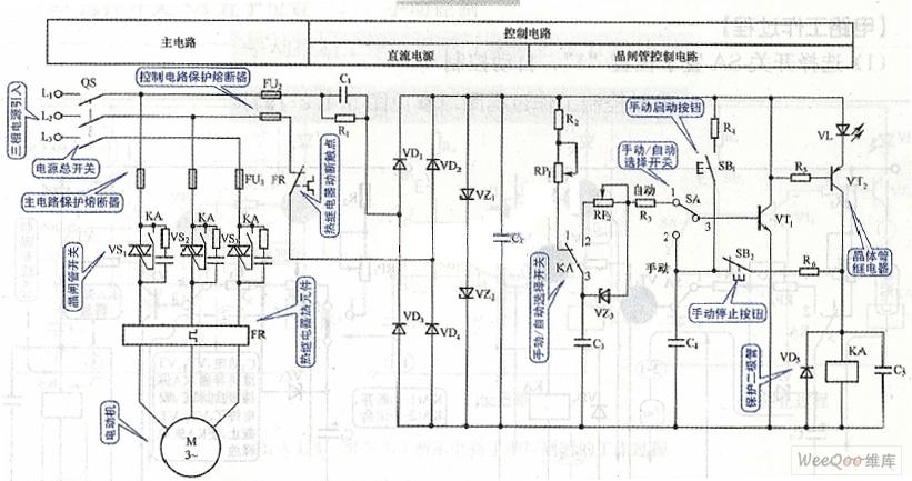 双向晶闸管电动机控制电路图一-伺服电机转速控制电路图图片