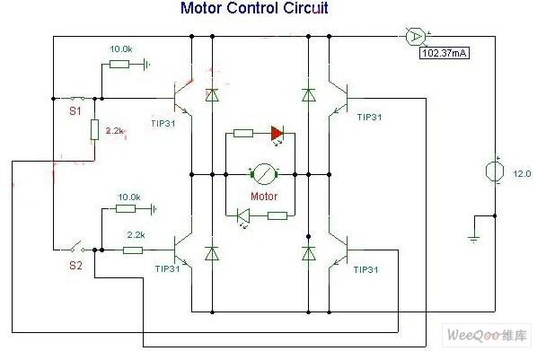 直流电机正反转控制驱动电路图-直流电动机电刷装置电路图图片