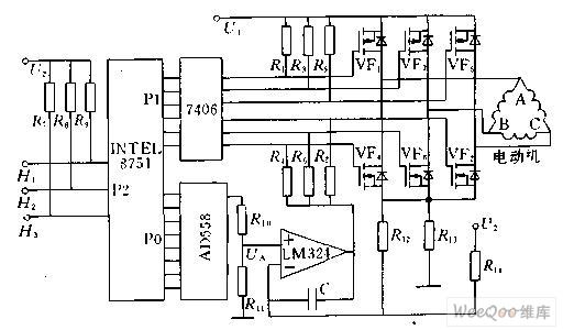 单片机控制直流无刷电动机驱动及接口电路图