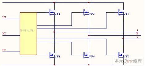 三相直流电机Y联结控制驱动电路图-直流电动机的电枢铁心电路图图片