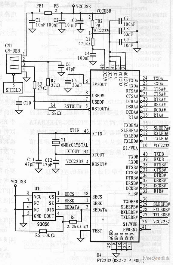 usb转rs8的接线方法_