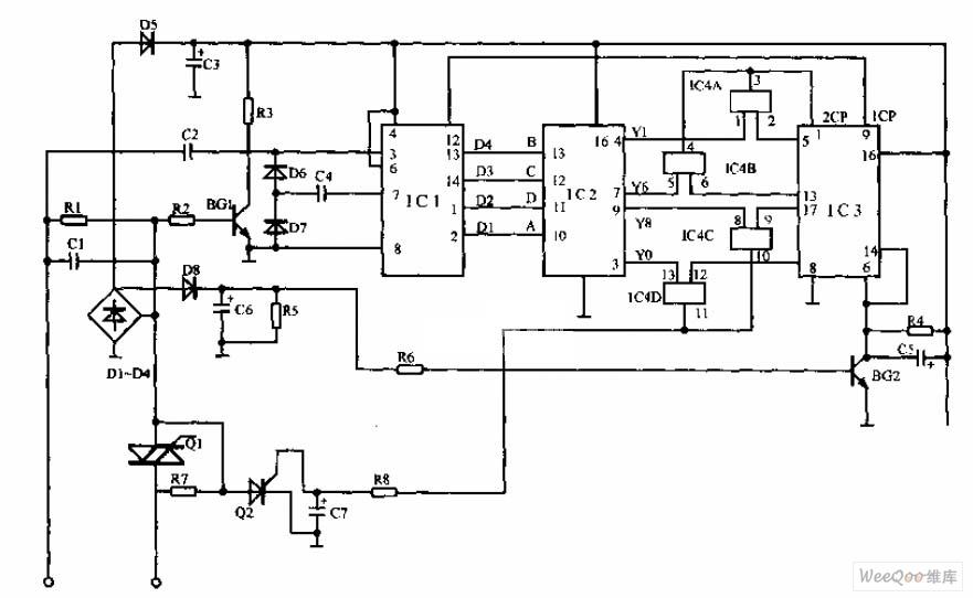双音频电话机160168控制器电路图