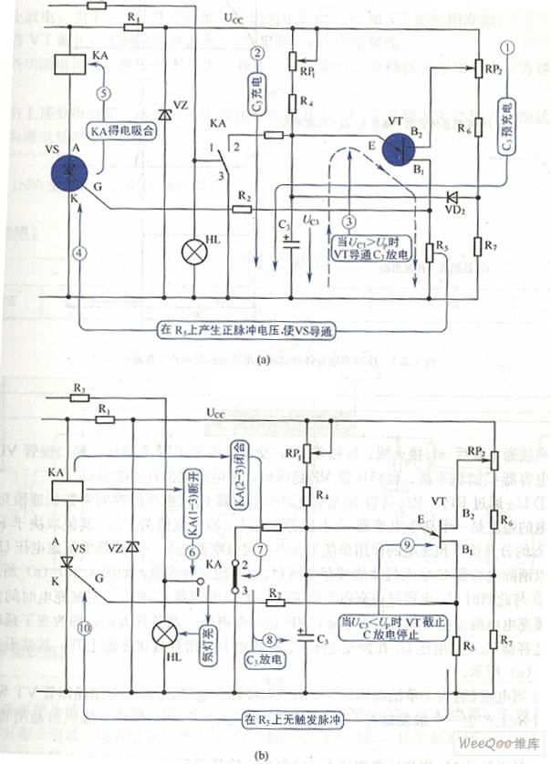 单晶体管时间继电器电路图-交流过零触发型固态继电器电路图